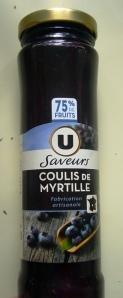 la purée de myrtilles utilisée