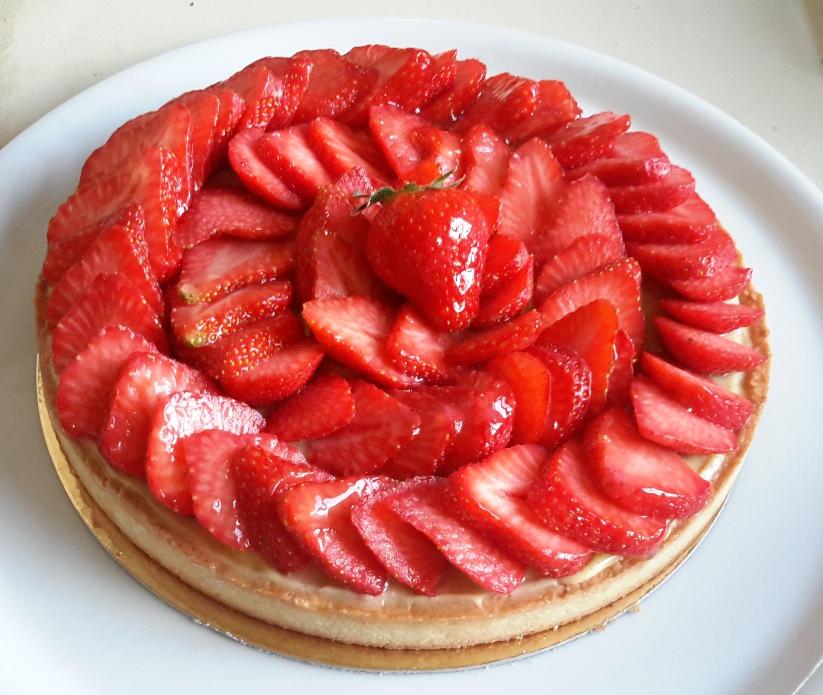 recette 18 tarte aux fraises la pistacheraie. Black Bedroom Furniture Sets. Home Design Ideas