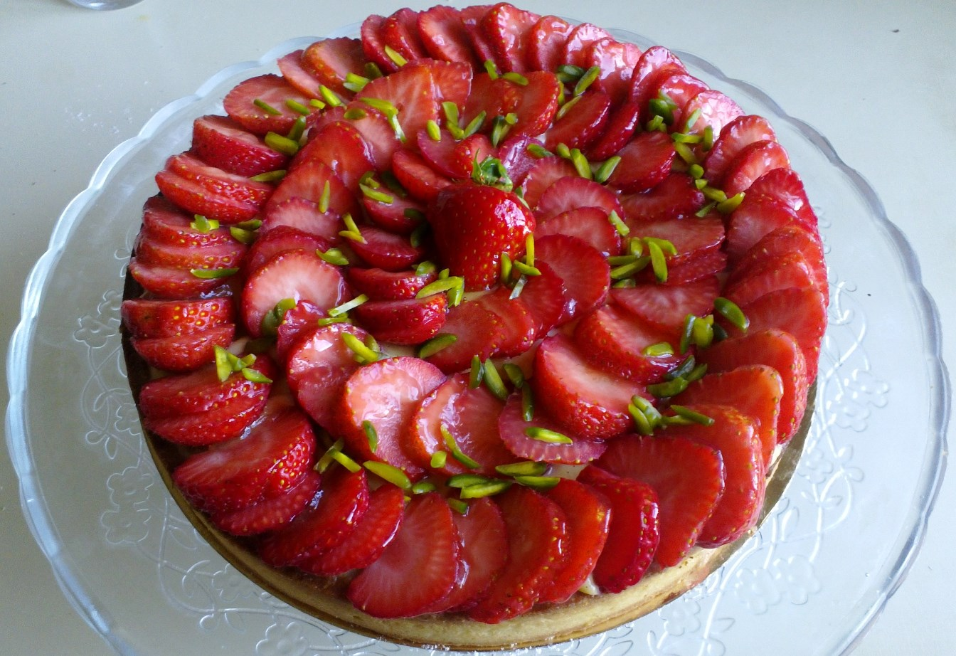 recette 18 tarte aux fraises la pistacheraie. Black Bedroom Furniture Sets. Home Design Ideas