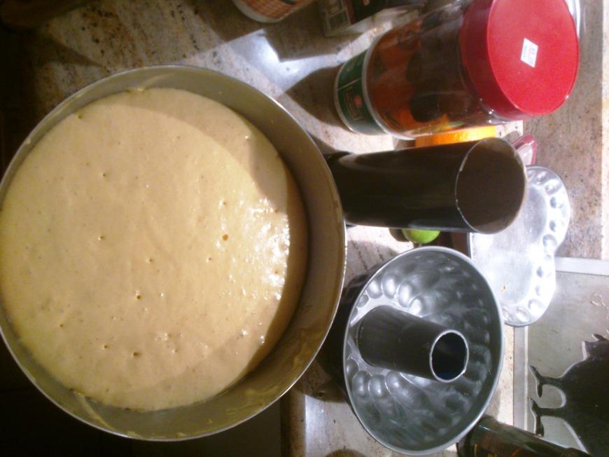 La pâte après le pointage à température ambiante.