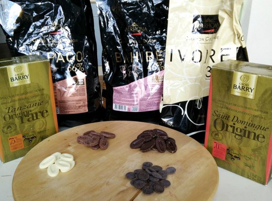 Des chocolats de chez Barry et Valrhona