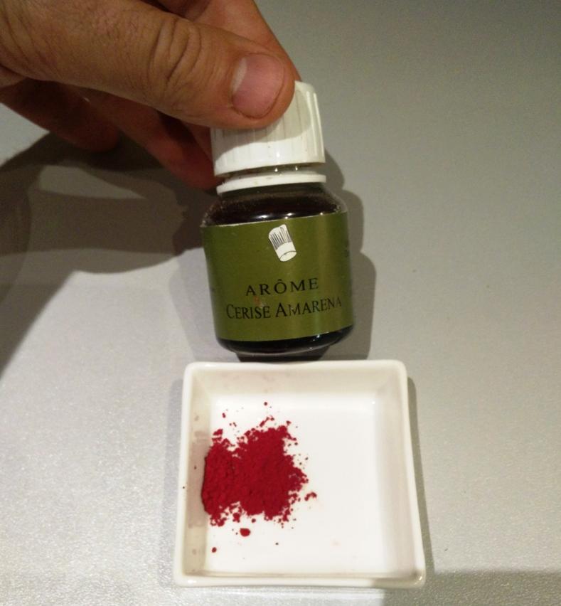 L'arôme de cerise amarena et le colorant