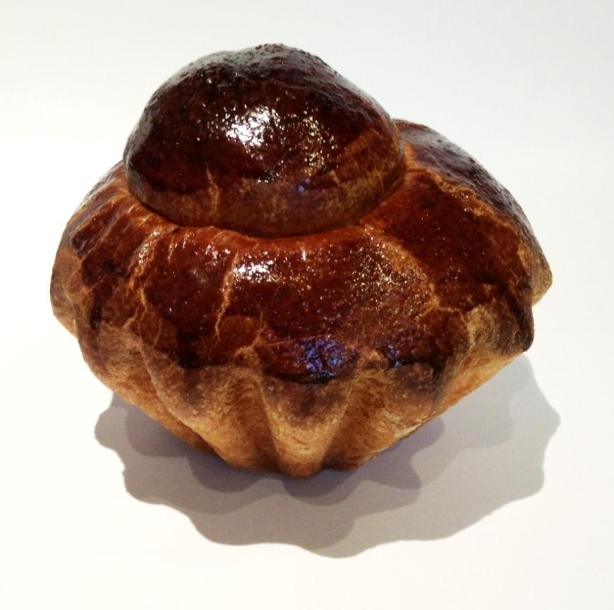 Ici, une grosse brioche à tête (250g de pâte crue)